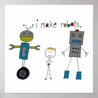Hago los robots (el muchacho) posters