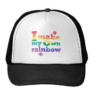 """""""Hago mensaje colorido de mi propio arco iris"""" Gorro"""
