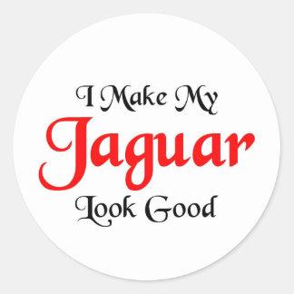 Hago mi mirada de Jaguar buena Pegatina Redonda