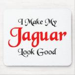 Hago mi mirada de Jaguar buena Tapetes De Ratón