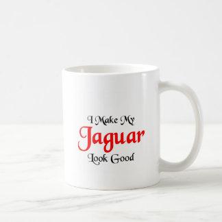 Hago mi mirada de Jaguar buena Tazas