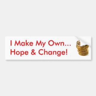 Hago mi propia esperanza y cambio pegatina para auto