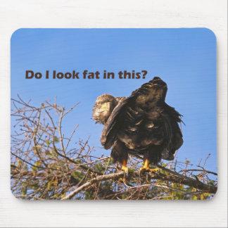 """""""Hago parezco gordo en este"""" Eagle Alfombrillas De Ratón"""