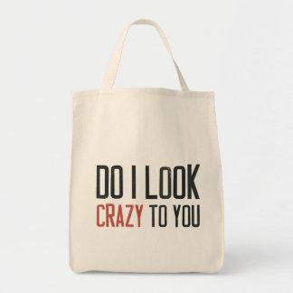 Hago parezco loco a usted bolsa tela para la compra