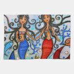 Hago, pintura de los pares de la sirena por Prisar Toalla