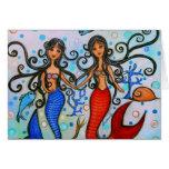 Hago, pintura de los pares de la sirena por Prisar Tarjeton