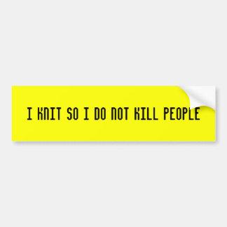 Hago punto así que no mato a gente pegatina para auto