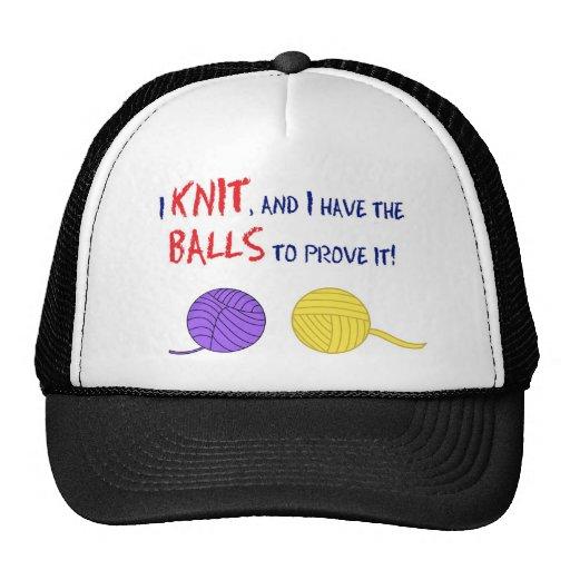 ¡Hago punto, y tengo las bolas para probarlo! Gorras