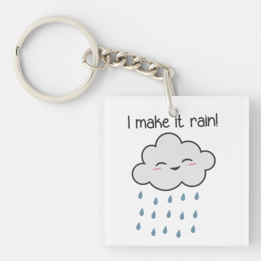 Hago que llueve la nube de tormenta linda llaveros