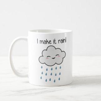 Hago que llueve la nube de tormenta linda taza de café