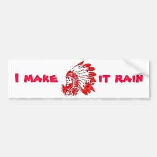 Hago que llueve pegatina para auto