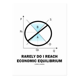Hago raramente alcanzo el equilibrio económico (la postal