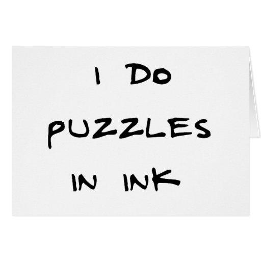 Hago rompecabezas en tinta tarjeta