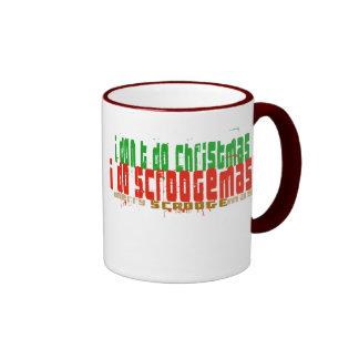Hago Scroogemas, rojo y verde Taza De Café