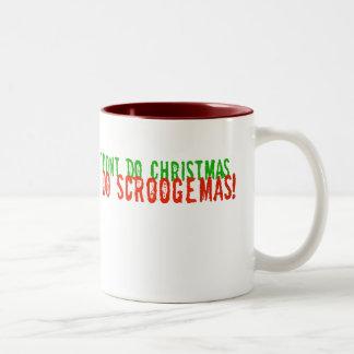 Hago Scroogemas, verde y rojo Taza De Café