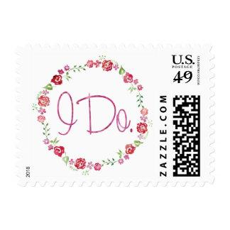 Hago - sello floral de la guirnalda de la acuarela