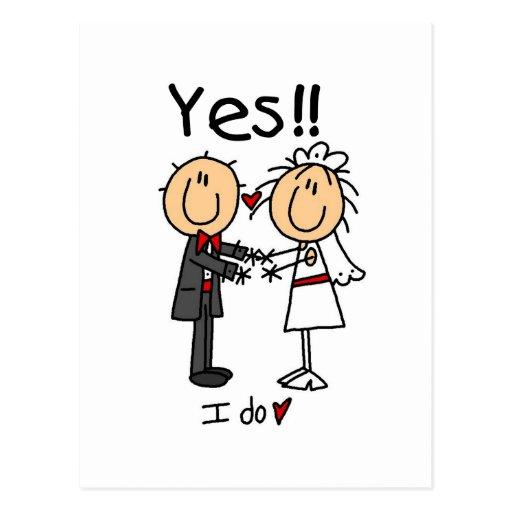 Hago SÍ a la novia y las camisetas y los regalos Tarjetas Postales