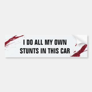Hago todos mis propios trucos en esta pegatina par pegatina para auto
