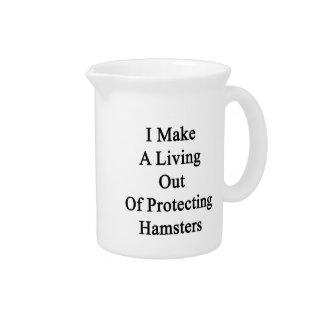 Hago una vida fuera de hámsteres de protección jarras de beber