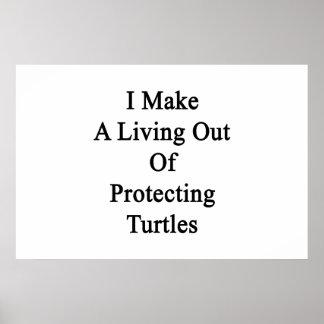 Hago una vida fuera de tortugas de protección impresiones