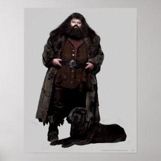Hagrid and Dog Poster