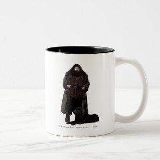 Hagrid and Dog Two-Tone Coffee Mug