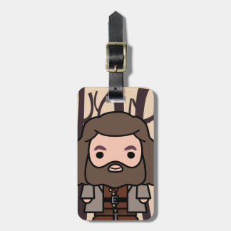 Hagrid Cartoon Character Art Bag Tag