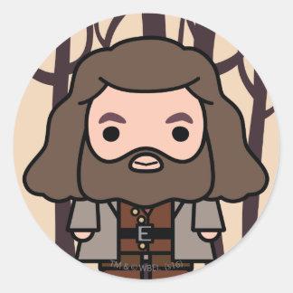 Hagrid Cartoon Character Art Classic Round Sticker