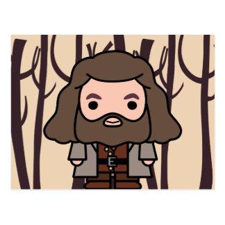 Hagrid Cartoon Character Art Postcard