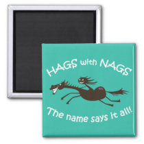 Hags with Nags Vintage design magnet