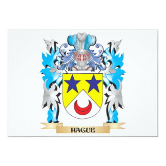"Hague Coat of Arms - Family Crest 5"" X 7"" Invitation Card"