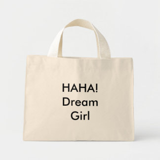 ¡HAHA! Chica ideal Bolsa Tela Pequeña