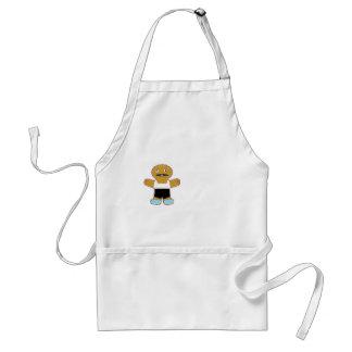 haha ginger bread man adult apron