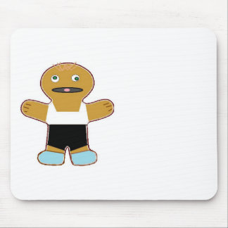 haha ginger bread man mouse pad