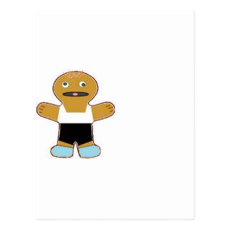haha ginger bread man postcard