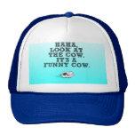 haha its a funny cow mesh hats