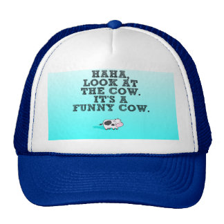 haha its a funny cow trucker hat