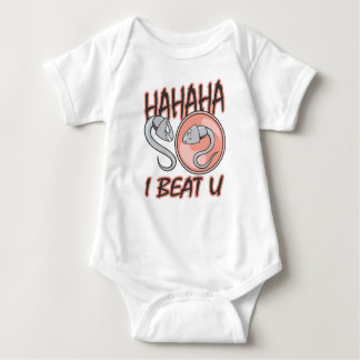HAHAHA, I BEAT U BABY BODYSUIT