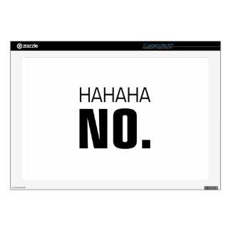"Hahaha No 17"" Laptop Decals"