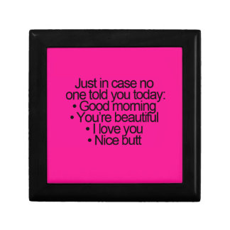 HAHAHAHA GOOD MORNING YOU ARE BEAUTIFUL LOVE YOU JEWELRY BOXES
