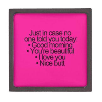 HAHAHAHA GOOD MORNING YOU ARE BEAUTIFUL LOVE YOU PREMIUM GIFT BOXES