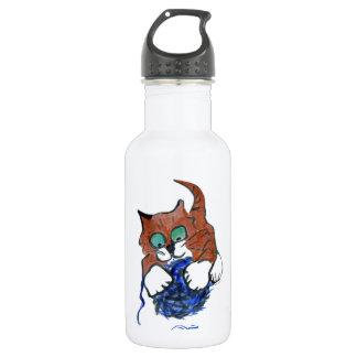 hahahaha take that Blue Yarn Water Bottle
