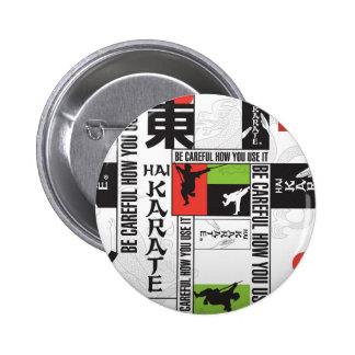 Hai Karate Brand Page Pinback Button