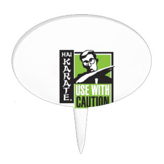 Hai Karate Use With Caution Chop Cake Toppers