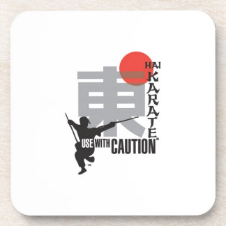 Hai Karate Use With Caution Drink Coaster