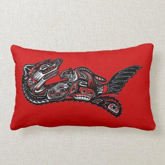 Haida Art-style Sea Otter Wildlife Throw Pillow