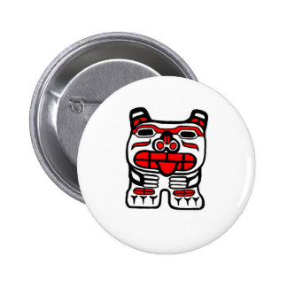 Haida Bear Pinback Button