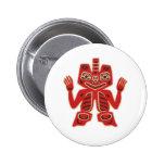 Haida Blanket Design Pinback Buttons