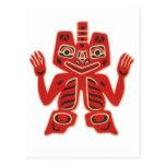 Haida Blanket Design Postcard