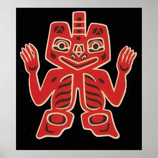 Haida Blanket Design Poster